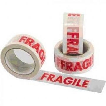 FRAGILE Tape<br>Size: 48x66m<br>Pack of 36